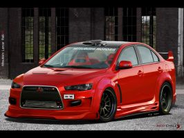 Mitsubishi Lancer Red chilly by praveen897