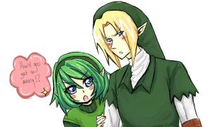 Saria and Link by AmyNinkai