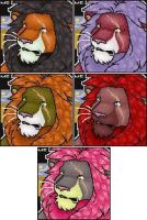 Male Lion Port by CreatureCreatingBabe