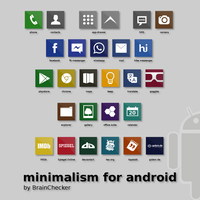 minimalism for android (icons) by BrainChecker