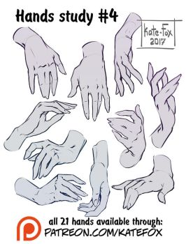 Hands study 4 by Kate-FoX