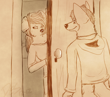 ''Oh..Hey..'' by xWolfPrincex