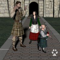 Commission: Kilts for Everyone 2 by Skiriki