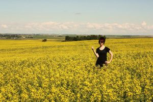 Alyssa and the canola fields14 by Sec0ndHeartbeat