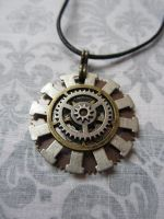 Gear Necklace by tanyadavisart