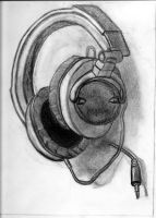 obsrv. drawing - headphones by XIRONPONYX
