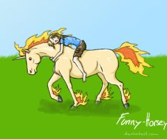 ID - Me and my Rapidash by Funny-horsey
