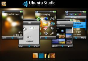 K810i Ubuntu Studio theme by dzutrinh
