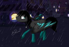 Walking In The Rain At Night by star-ray by LR-Studios