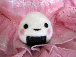 Onigiri Needle Felt by nekofoot