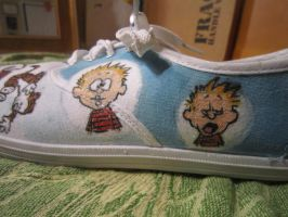 calvin and hobbes shoes-left4 by inkspill94