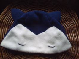 Snorlax hat by hoshi-kagami