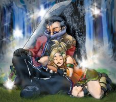 Auron and Rikku - WIP8 by jameson9101322
