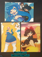 [Con Leftovers] - Mini Prints by TehButterCookie