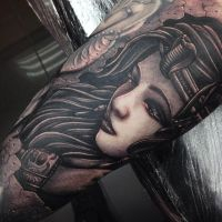 Egyptian princess tattoo sleeve by Craig Holmes by CraigHolmesTattoo