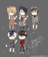 Kemonomimi Boys Adopt Auction [CLOSED] by BunnieAdopt