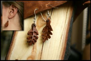 Leaves Earrings by Hluthvik