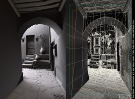 Wireframe model of Sad Street by cetintuker