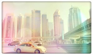 taxi on Zayed road by amirajuli