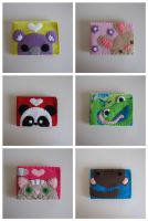 Kawaii Felt Peek-a-Boo Wallets by djonesgirlz