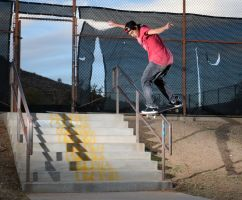 Back Lipslide Tennis Court 9 by gizmofosho