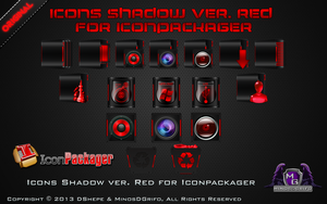 Icons Shadow Red for Iconpackager 2013 by DShepe by DShepe