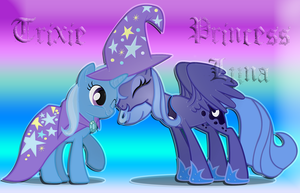 24 - Trixie and Princess Luna by Ov3rHell3XoduZ