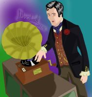 Vince as a victorian DJ Colour by marballz