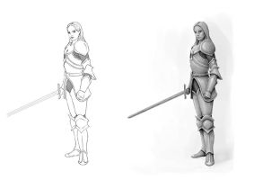 Female Warrior Concept by SHAWCJ
