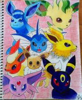 Eeveelutions by RedDeadRAVAGE