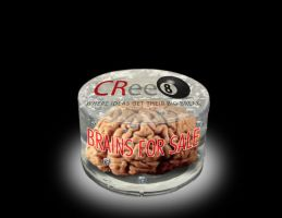 BRAINS FOR SALE at CRee8 Group by FrozenPinky