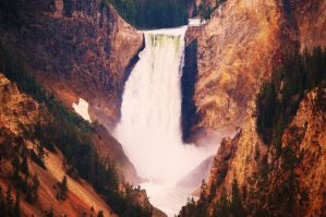 Yellowstone Falls by CrazyRabidPony