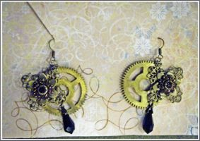 Cog Earrings Remade by KCarey