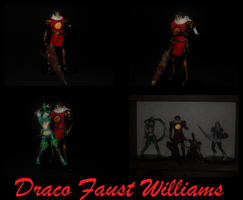 3.75-Inch Scale Draco Faust Williams Custom Figure by Drakhand006