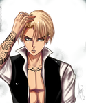 Blonde Levi Ackerman by HerzyDIshtar