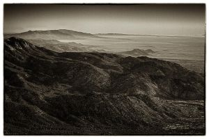 Sandia Mountain Range B-W by M-Lewis