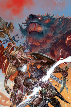 Cover, Smite: The Pantheon War III by eDufRancisco