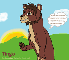 Tingo the Cookie bear by Golloperaa