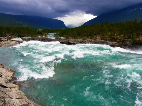 Norway: Wild river by TheGallantCrow