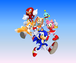 Sonic and his Friends Blue Sky Wallaper by 9029561