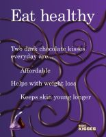Hershey's Dark Chocolate Kiss Ad (text dominant) by Arekage
