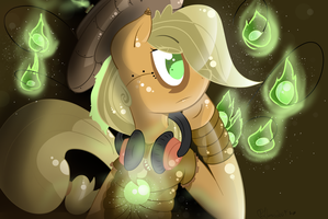 I don't know what to name these...Applejack XD by LlamasWithKatanas