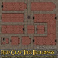 Red Clay Tile Buildings - For RPG Battlemaps by jcarlhenderson