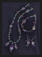 Amethyst and Aventurine by bataleigh