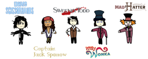 Johnny Depp fav characters by LauraL4u
