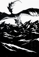 Inktober #19 | Mountains by silverybeast