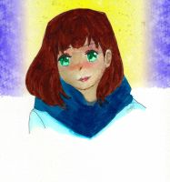Cozy Blue Scarf by InLoveWithYaoi