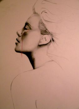 Charlize Theron, pencil and pastel, WIP by OmarCorona