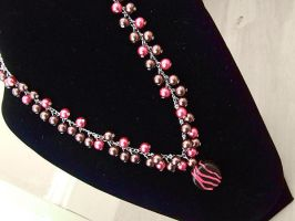 Raspberry Chocolate Necklace by vaoni