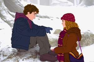 Harry and Hermione draw over by iluvsnuffles